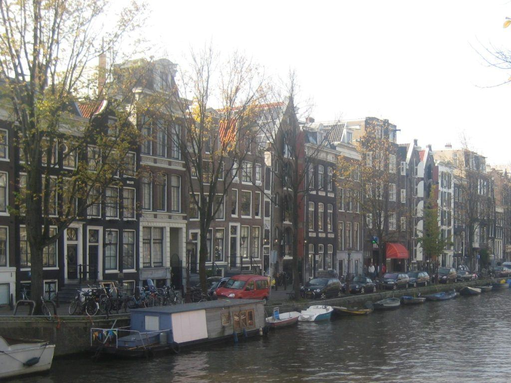 bikes along canal in Amsterdam, 2009