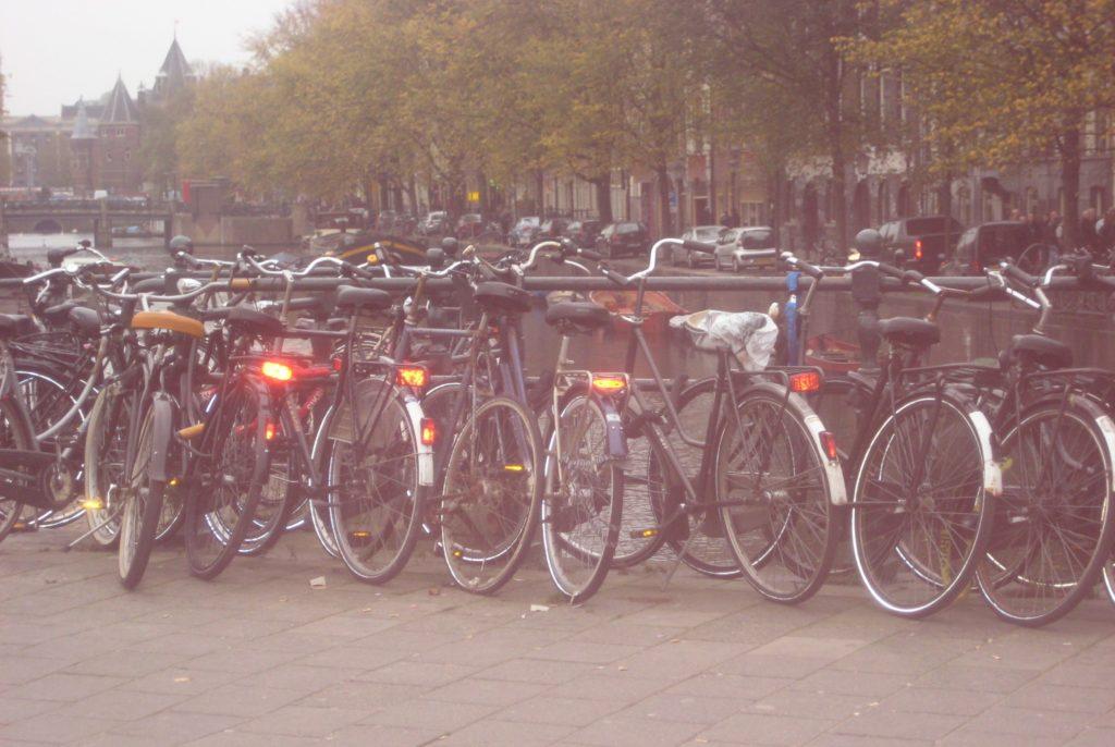 lots of bikes in amsterdam