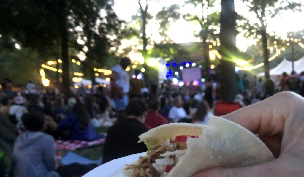carnitas for a pop-up picnic at the bandhsell for Bomba Estereo live at the prospect park bandshell
