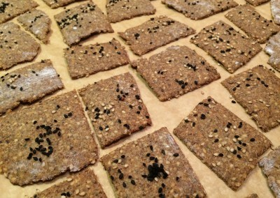 seeded rye crackers fresh baked