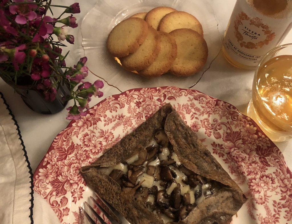 crepes and cidre and galettes de bretonne