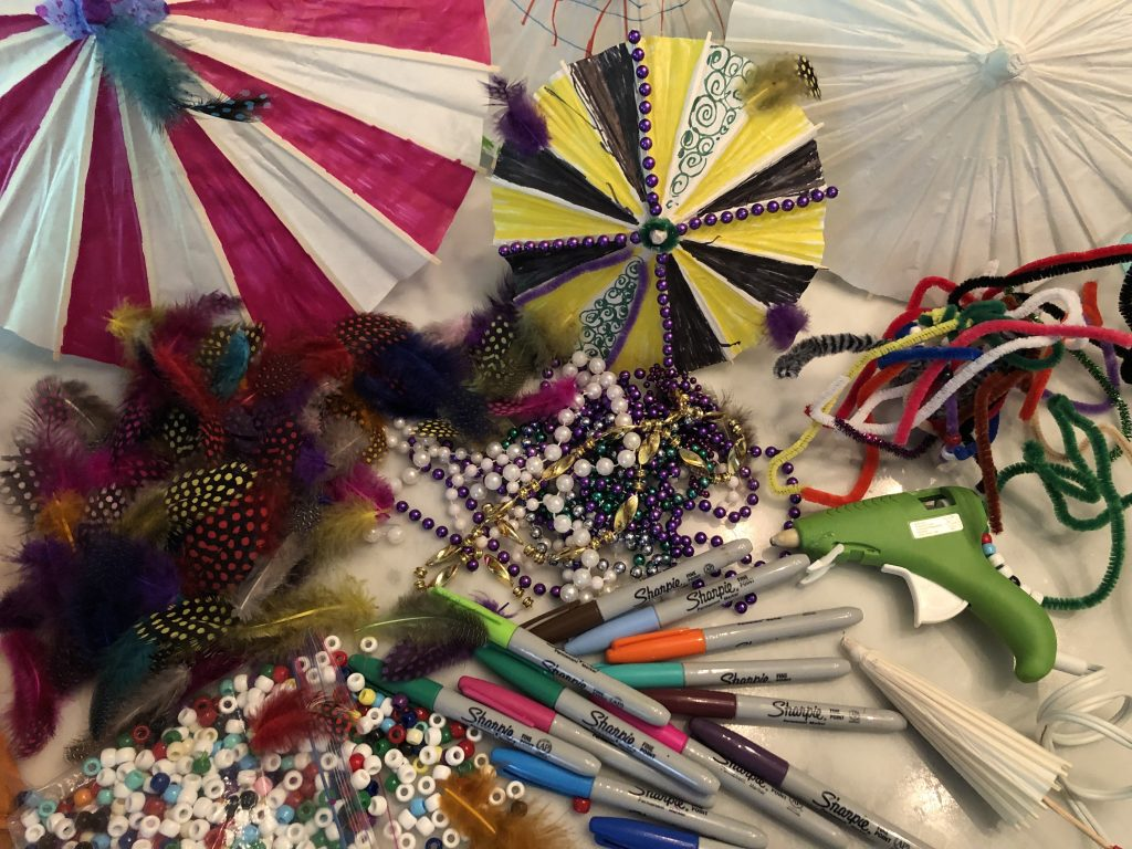 second line umbrella craft diy all the necessary bits