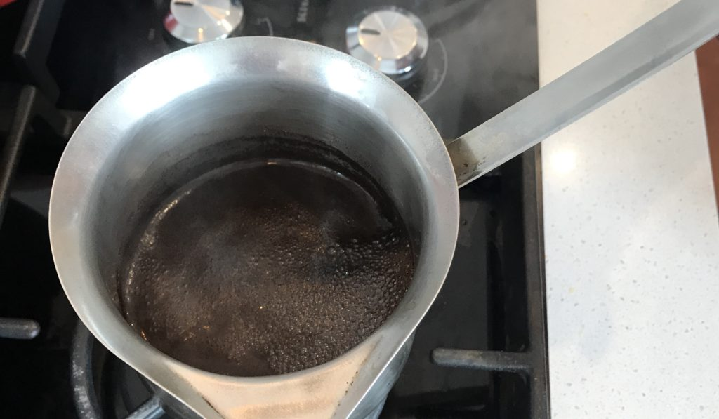 turkish coffee on the stove