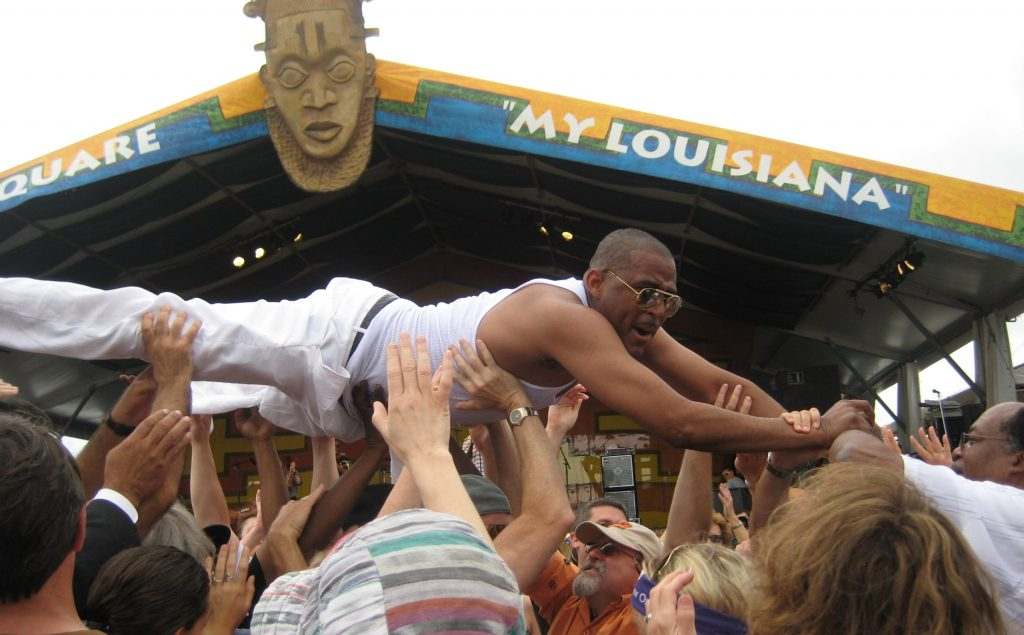 Crowd Surfing at 2010 Jazz fest New Orleans