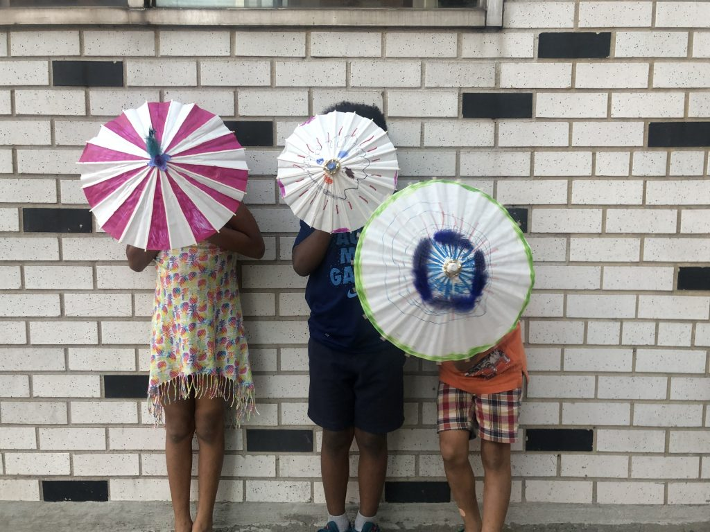 diy second line umbrellas