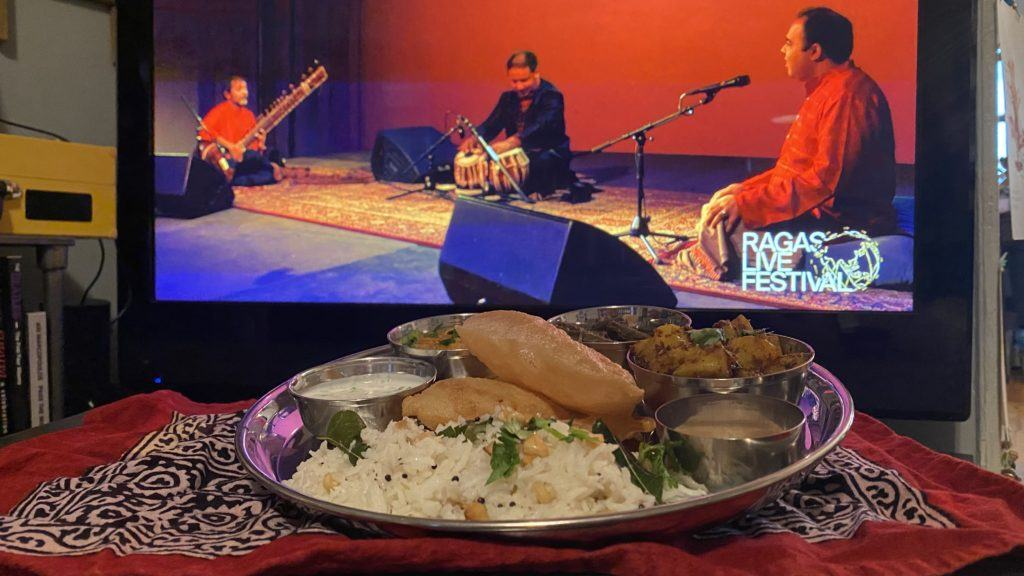 full thali to enjoy abhik and company for ragas live (online!) 2020
