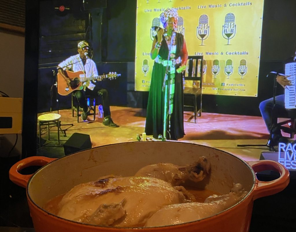 akoho masoandro (malagasy sun chicken) during tako telo performance