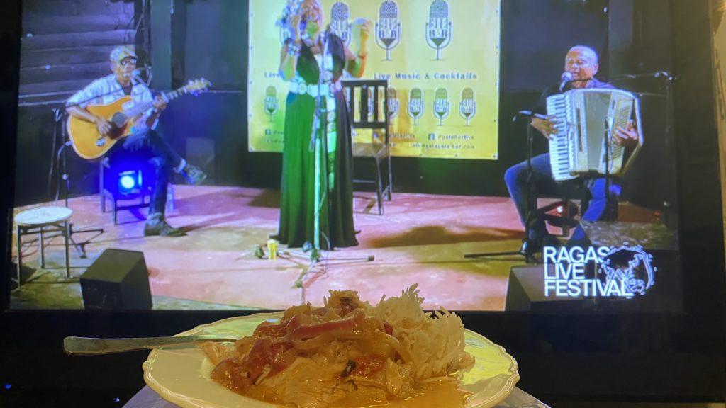 monika njavas sun chicken for her tako telo performance at raga live massive 2020