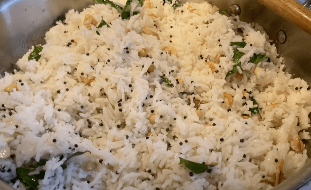 coconut ghee rice cooking
