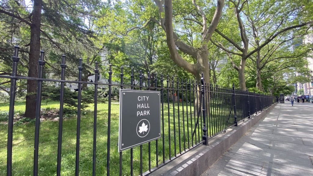 city hall park on a gorgeous may day in 2021